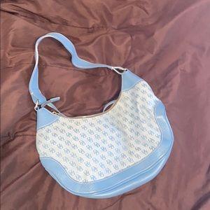 Blue D&B shoulder purse